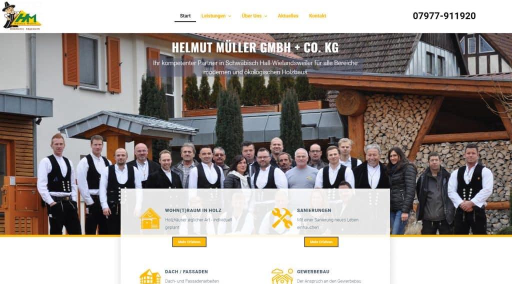 Webseite Helmut Müller